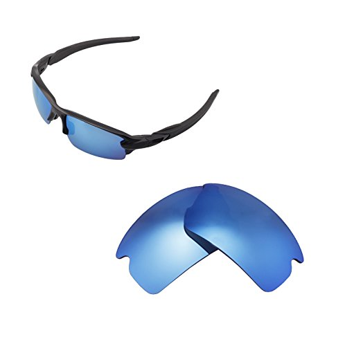Walleva Replacement Lenses for Oakley Flak 2.0 Sunglasses - Multiple Options Available (Ice Blue - Polarized)