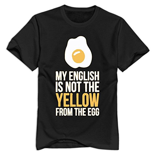 WLF My English Is Not The Yellow From The Egg Logo Organic Cotton Standard Weight T-Shirt For - Clothing Buy I Online Lf Can Where
