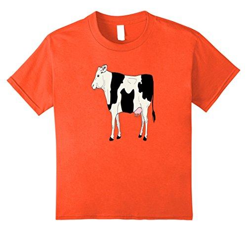 Farm Theme Party Costumes (Kids Cow Costume Shirt For Farm Animals Birthday Party Shirt 12 Orange)