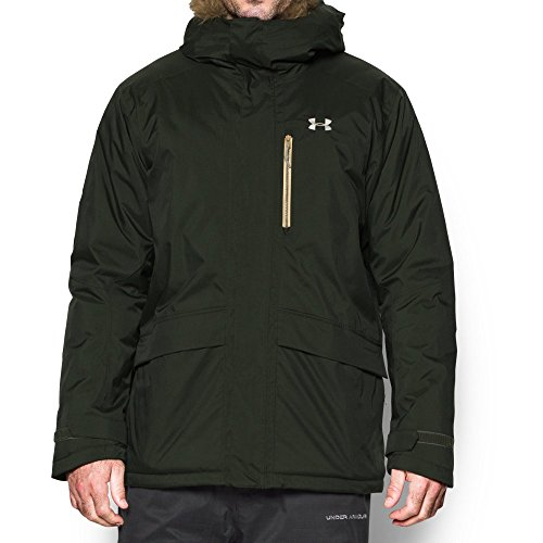 Under Armour Men's ColdGear Reactor Voltage Jacket, Artillery Green/Gold Ore, Medium