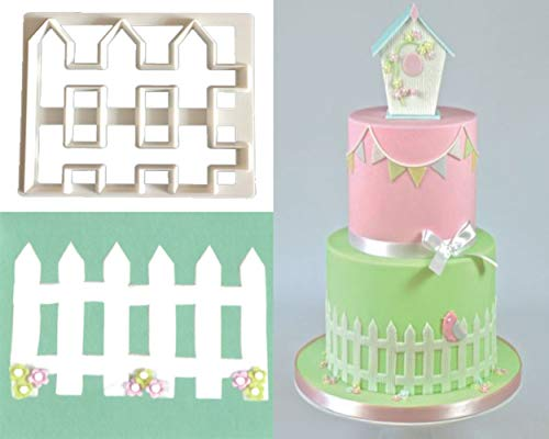 Mity rain The Easiest Pastry cutters/Bamboo Fence Cookie Cutter Set,Picket Fence Cookie Cutter,CupCake Decorating Gumpaste Fondant Mold