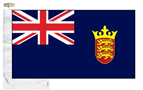 Jersey Blue Ensign Flag - 1 Yard  - Rope and Toggle