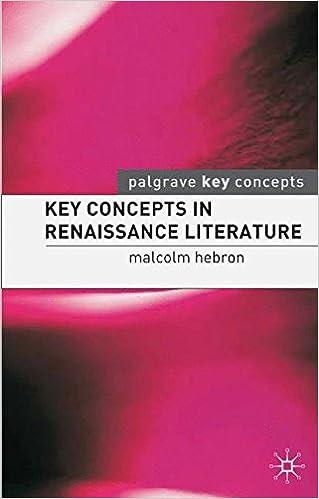 Key Concepts in Renaissance Literature (Palgrave Key Concepts: Literature)