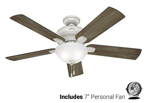 Biscayne Ceiling Light (Hunter Outdoor Ceiling Fan White 54091 Matheston 52