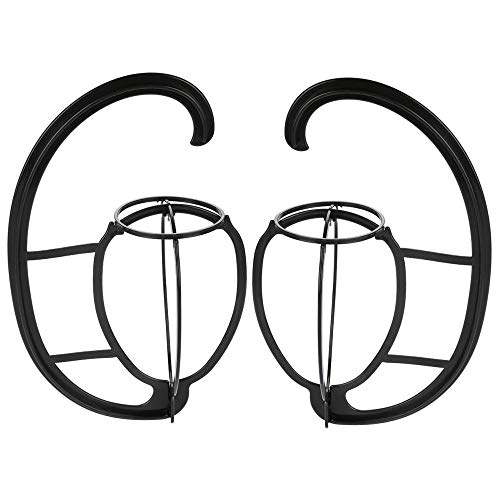 Chris.W 2Pack Wig Holder Hanger Collapsible Wig Dryer Wig Stand for All Wigs and Hats, Plastic Hat Hanger(Black)