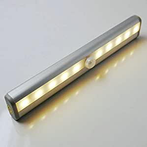 DQDF®10 Super Bright LED New Battery Operated Warm White Automatic Light Up  Under