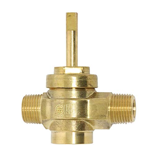 - GSW WR-GV Copper Gas Valve with Handle for Commercial Wok Range, ETL Approved, 1/2