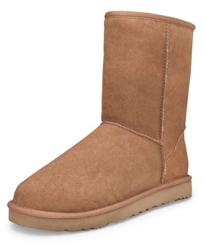 (UGG Men's Classic Short Sheepskin Boots, Chestnut, 12 D(M) US)
