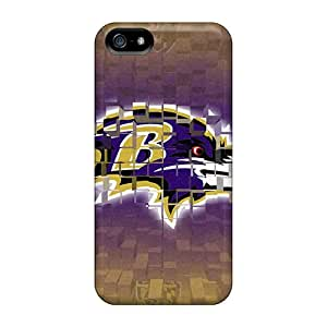 Protective Tpu Case With Fashion Design For Iphone 5/5s (baltimore Ravens)