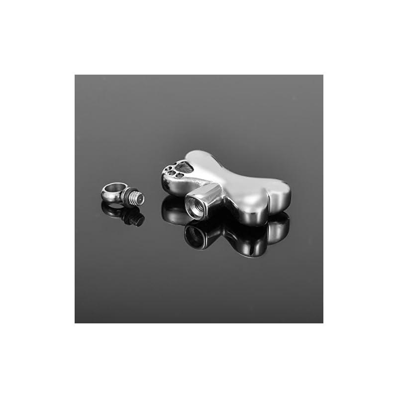 dog supplies online hooami pet cremation urn necklace puppy dog paw on bone pendant keepsake memorial jewelry