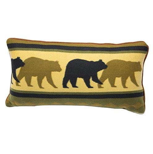 Bear Wilderness Lodge Rustic Fleece Decorative Throw Pillow 100% Polyester (Bear, (Bear Lodge Pillow)