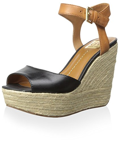 Women's By DV Black Sandal Nadiyah Wedge Vita Leather Dolce HZAzFxq7