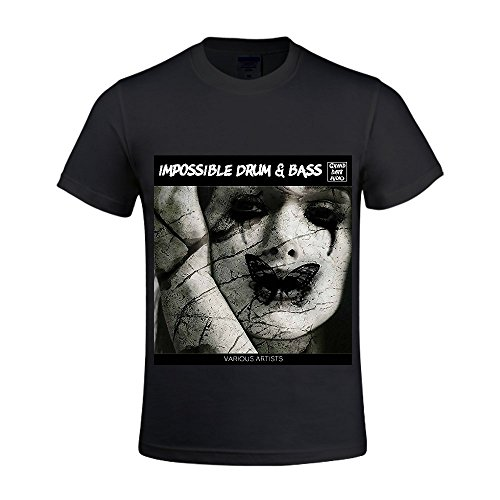Impossible Drum & Bass Men Crew Neck Sports T Shirts (Ugg Boots Rhinestone)