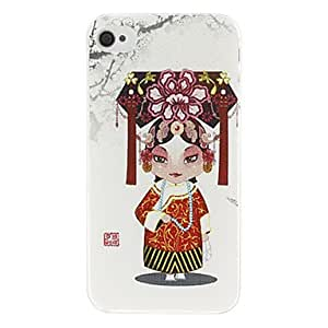 Opera Pretty Girl Pattern Hard Case for iPhone 4/4S