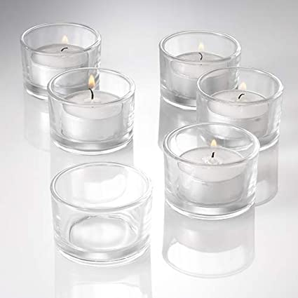 13c48145a6 Amazon.com: Eastland® Tealight Candle Holders Clear Set of 12: Home &  Kitchen