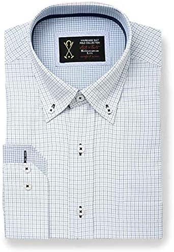 Camisa Manga Larga, con Estampado de Cuadros Finos de Color Blanco, Negro y Azul Turquesa - 5_XL, Azul Turquesa: Amazon.es: Ropa y accesorios