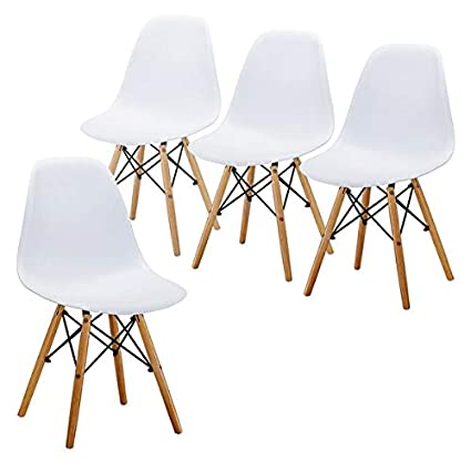 Tremendous Amazon Com Plastic Dining Chair With Wood Legs Dining Bralicious Painted Fabric Chair Ideas Braliciousco