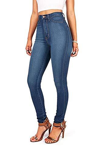 Pantalon Taille des Jeans Les Skinny De Blue4 Jeans Haute Long Poche La Femmes qtn1nxO8