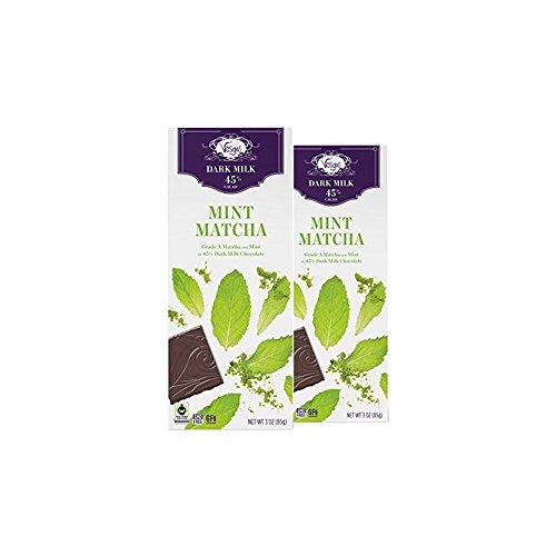 Vosges Haut-Chocolat Matcha Mint Chocolate, Pack of 2, 3oz Bars