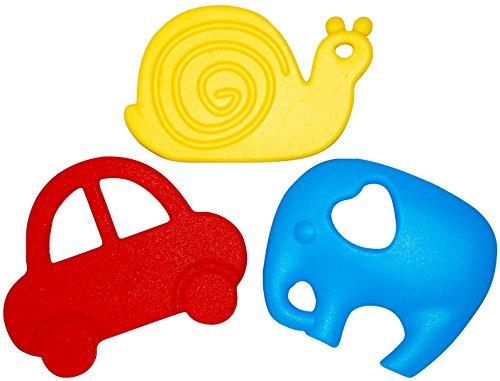 Bébé Diva de dentition, jouets de dentition BPA gratuites, Gift Set de 3, congélateur et au lave-vaisselle