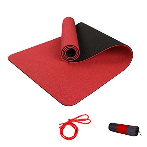 AILI Tapis d'exercice de gymnastique de fitness de tapis de yoga anti-dérapant, tapis d'exercice à haute résistance de tear-proof