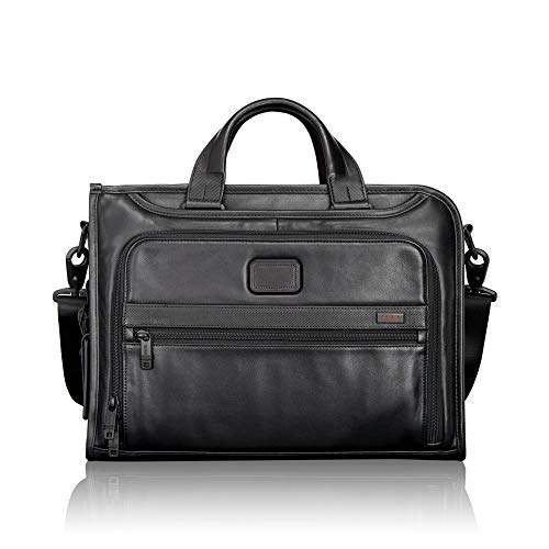 (TUMI - Alpha 2 Slim Deluxe Portfolio Bag - Leather Organizer Briefcase for Men and Women -)