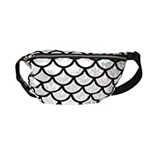 Fashion Women Fish Scale Pattern Waist Bag All-match Elegant Shoulder Bag Crossbody Bag Coin Purse