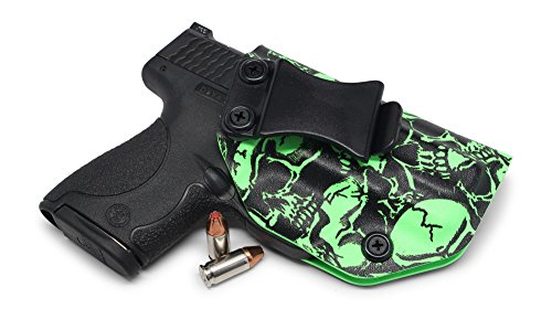 Concealment Express Graveyard Camo Slime Green IWB KYDEX Holster - Custom Fit - US Made - Inside Waistband Concealed Carry Holster - Adj. Cant/Retention ()