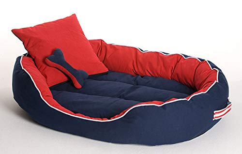 Dog/Cat Ultra Soft Reversible Bed with 2 Extra Pillows