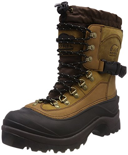 Sorel Men's Conquest Snow Boot, Bark, 10.5 M US (400g Thinsulate Ultra Insulation)