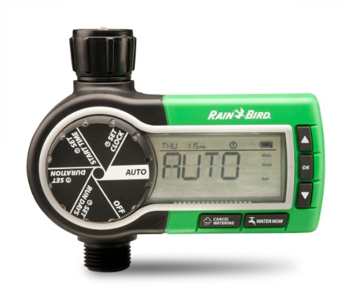 Rain Bird 1ZEHTMR Professional Grade Electronic Digital Hose End Timer/Controller, One Zone/Station, Battery Operated ()