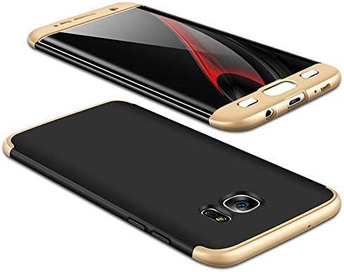 JMGoodstore Funda Samsung Galaxy S8,Carcasa Galaxy S8,Funda 360 Grados Integral para Ambas Caras+Cristal Templado,[360°] 3 in 1 Slim Fit Dactilares Protectora Skin Caso Carcasa Cover Oro+Negro: Amazon.es: Hogar