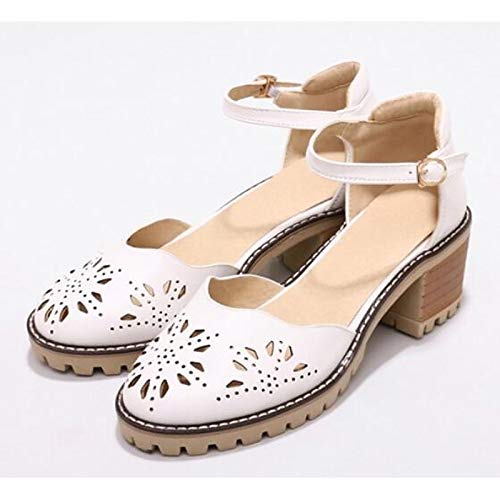 ZHZNVX Shoes Pump Heel Grey Chunky Heels Polyurethane Basic Summer Pink PU Gray Black Women's ZZqUxnrf