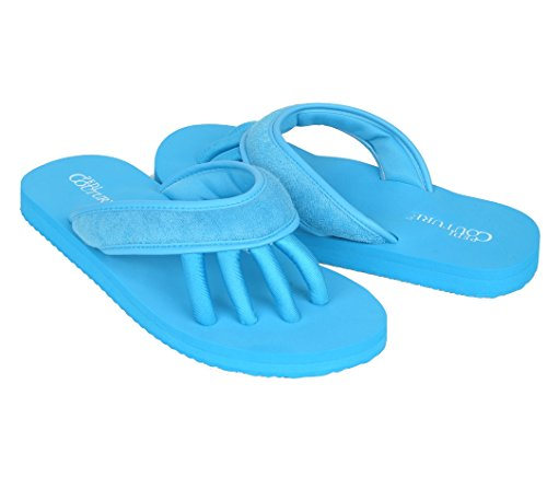 Pedi Couture Super Lightweight Brand Sandals with Toe Separator Feature (Turquoise, Large)