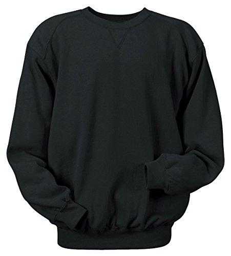 Badger Crewneck Fleece Sweatshirts - Badger Sportswear Men's Blend CrewNeck SweatShirt, black, Medium