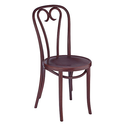European Bentwood CURLICUE Wood Dining Chairs Mahogany (Chair Manhattan)