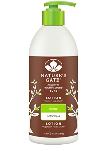 Nature's Gate Natural Herbal Lotion, Blend of Myrrh, Lavender, and Ivy Herbs, Vegan, Non GMO, Paraben Free, Gluten Free, Soy Free, Mineral Oil Free, Petrolatum Free, Cruelty Free, 18 Ounce (Pack of 3) ()