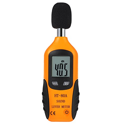 Proster Noise Meters Mini Digital Sound Level Noise Meter 40dBA-130dBA Decibel Pressure Monitor DB Tester Measure (Meter Level Sound Pressure)
