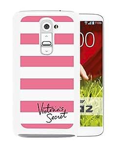 Unique Designed Victoria's Secret Love Pink Cover Case For LG G2 in White Phone Case 39