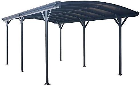 Carport, marquesina para coche de policarbonato y aluminio – 505 x 300 cm de exterior o de jardín: Amazon.es: Hogar