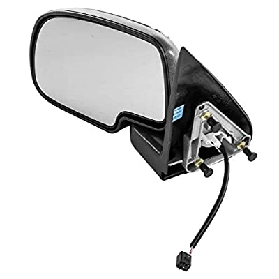 Left Driver Side Mirror for Chevy Avalanche Silverado GMC Sierra 1500 2500 (1999 2000 2001 2002) Chrome Non-Heated Power Operated Folding Outside Rear View Door Mirror - GM1320204: Automotive