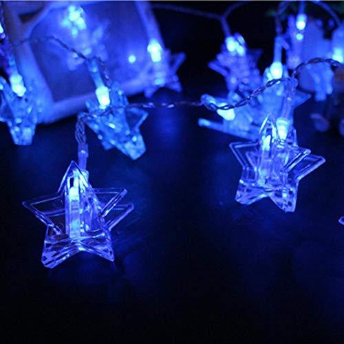 FZZ698 String Lights USB Lights Halloween Light Bulb Lamp Decor Star Shaped Creative Diy (blue) from FZZ698