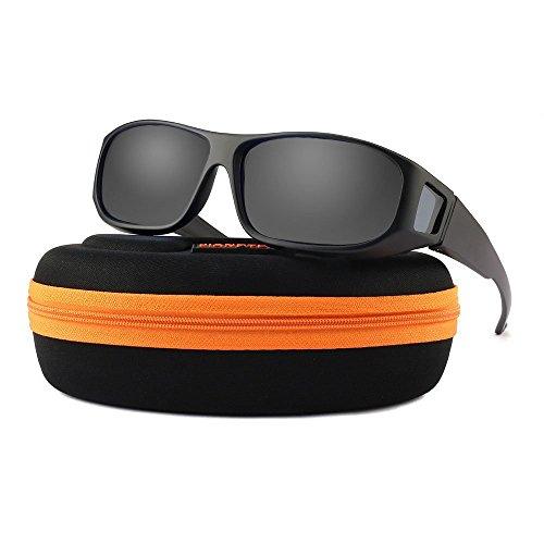 Fit Over Glasses Prescription Sunglasses Polarized Lens for Men and ()