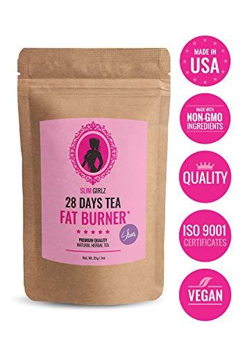 Slim Girlz 28 Days Fat Burner Tea | for Women | 85g Loose Leaf | Slim Tea for Weight Loss | Detox Tea | Diet & Fat Loss Tea | Cleanse Tea | Natural Dietary Supplement | for More Successful Diet