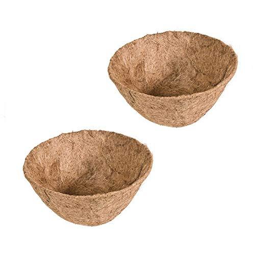 Liner Coconut Replacement - 2 Pack Coconut Fiber Replacement Liner Garden Flower Pots Wall Hanging Basket Liner 10 inch