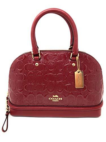 - COACH Mini Sierra Satchel In Signature Debossed Patent Leather (Cherry)