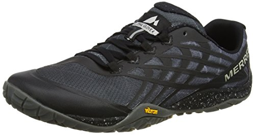 Merrell Mens Trail Glove 4 Mesh Synthetic Space Black Trainers 10.5 US