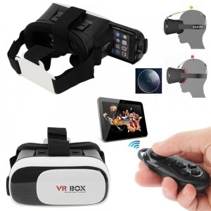 VR BOX VR02 Virtual Reality 3D Glasses + Bluetooth Remote Game Controller