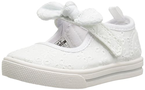 carter's Spice Girl's Mary Jane, White, 8 M US (Dressy Toddler Shoes)