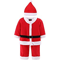 Baby Boys Girl Christmas Santa Claus Suit 2 pcs Xmas Costume Romper Outfit & Hat